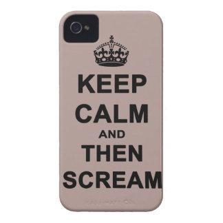 Keep Calm & Then Scream Case-Mate iPhone 4 Cases