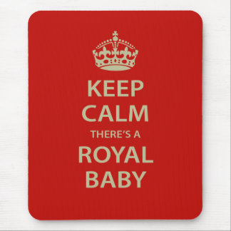 Keep Calm There's A Royal Baby Mouse Mat