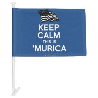Keep Calm This is 'Murica Car Flag