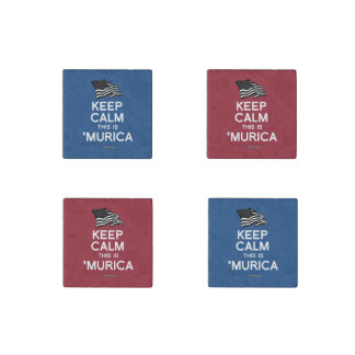Keep Calm This is 'Murica Stone Magnet