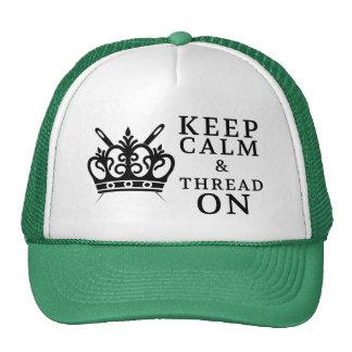 Keep Calm Thread On Cap