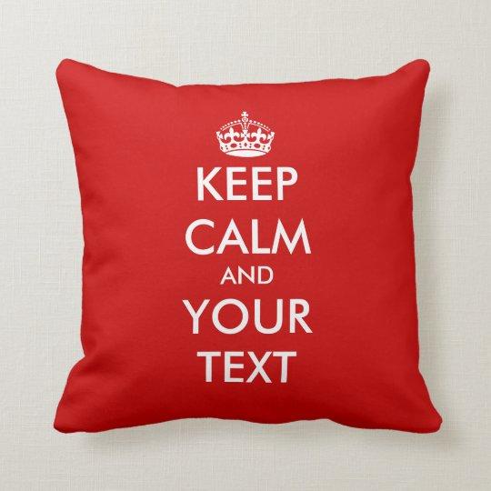 Keep calm throw pillow | Customisable template