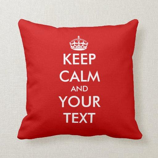 Keep calm throw pillow | Customizable template