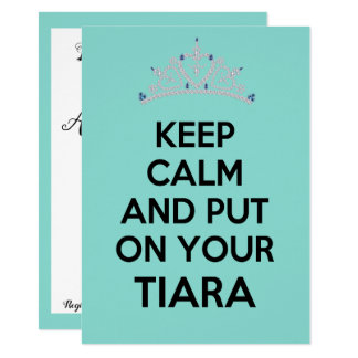 Keep Calm Tiara Party Shower Invitation