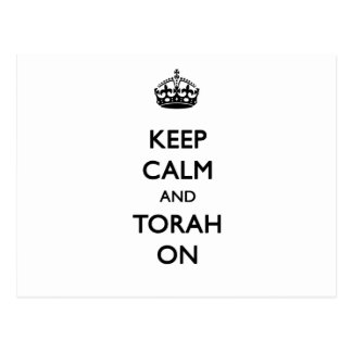 Keep Calm & Torah On Postcard