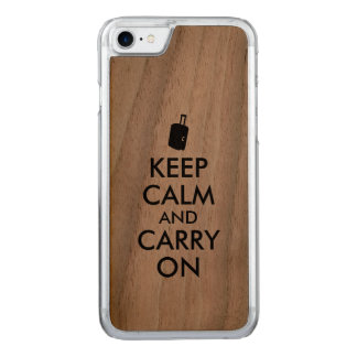 Keep Calm Travel Wooden Phone Carved iPhone 8/7 Case
