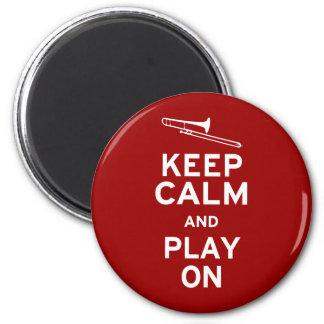 Keep Calm Trombone 6 Cm Round Magnet