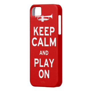 Keep Calm Trumpet Case For The iPhone 5