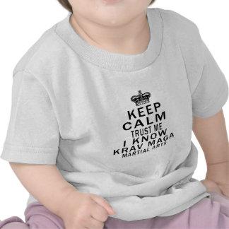 Keep Calm Trust Me I Know Krav Maga Martial Arts Tee Shirt