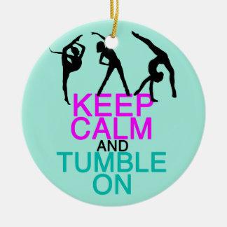 Keep Calm Tumble On Gymnastics Christmas Ornament
