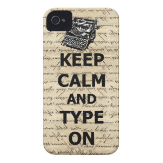Keep calm & type on iPhone 4 case
