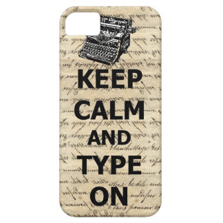 Keep calm & type on iPhone 5 covers