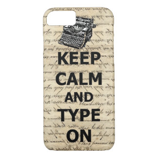 Keep calm & type on iPhone 8/7 case