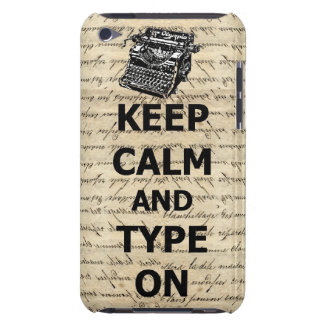 Keep calm & type on iPod touch case