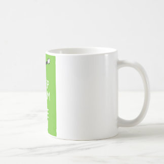 Keep Calm Uke On (Shamrock) Coffee Mug