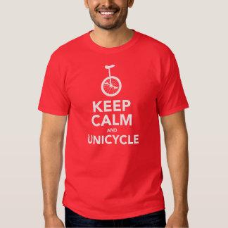 Keep Calm & Unicycle T Shirts