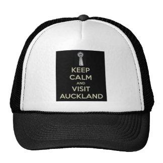 keep calm visit auckland trucker hat