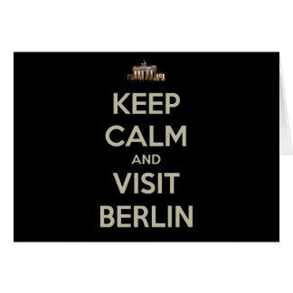 keep calm visit berlin card