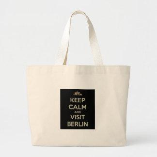 keep calm visit berlin jumbo tote bag