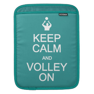 Keep Calm & Volley On custom color iPad sleeve