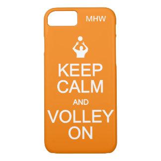 Keep Calm & Volley On custom monogram cases