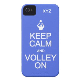 Keep Calm & Volley On custom monogram cases iPhone 4 Cases