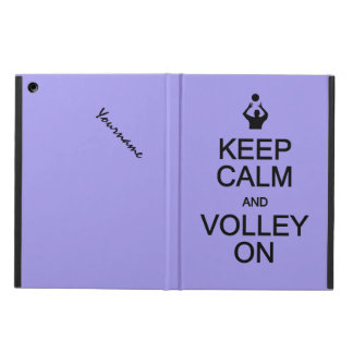 Keep Calm & Volley On custom monogram cases Case For iPad Air