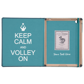 Keep Calm & Volley On custom monogram cases Covers For iPad