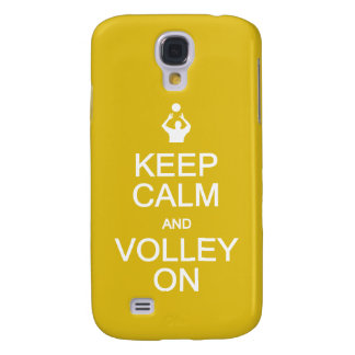 Keep Calm & Volley On custom monogram cases Galaxy S4 Case