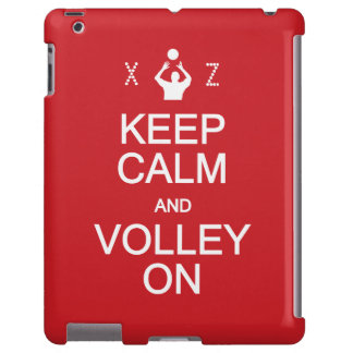 Keep Calm & Volley On custom monogram cases iPad Case