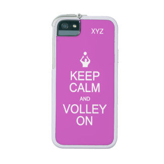 Keep Calm & Volley On custom monogram cases iPhone 5/5S Covers