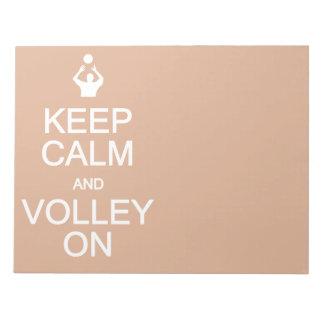 Keep Calm & Volley On custom notepad