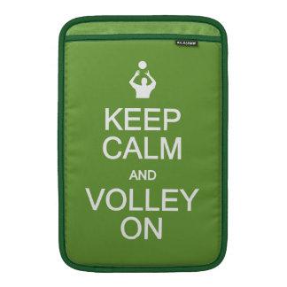 Keep Calm & Volley On custom sleeves MacBook Air Sleeve