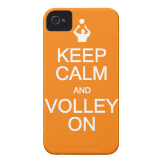 Keep Calm & Volley On iPhone 4 Case-Mate