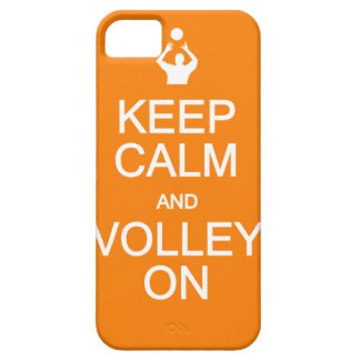 Keep Calm & Volley On iPhone 5 Case-Mate iPhone 5 Covers