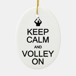 Keep Calm & Volley On ornament, customize Christmas Ornament