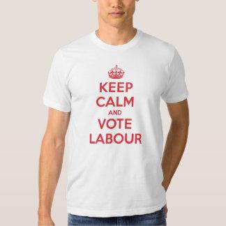 Keep Calm Vote Labour Shirts