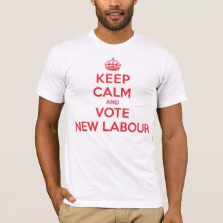 Keep Calm Vote New Labour T-Shirt