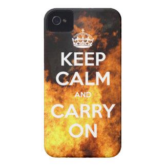 Keep Calm w/ Fire iPhone 4 Case-Mate Case