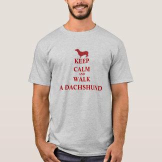 Keep Calm & Walk a Dachshund dog fun mens t-shirt
