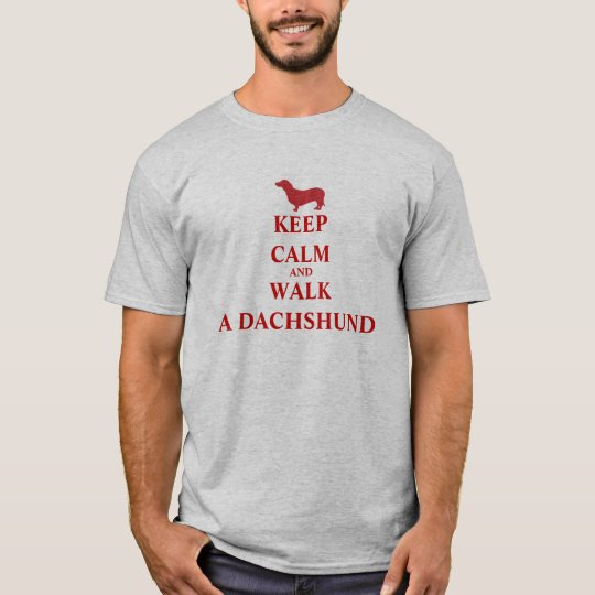 Keep Calm & Walk a Dachshund dog fun