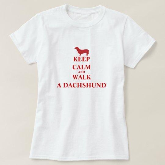 Keep Calm Walk a Dachshund dog fun womens