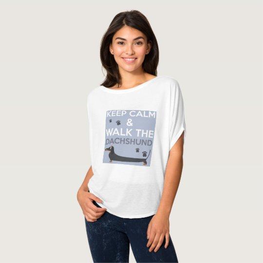 Keep Calm & Walk The Dachshund T-Shirt