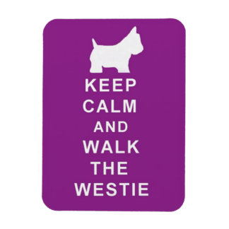 KEEP CALM WALK THE WESTIE MAGNET BIRTHDAY