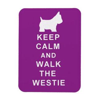 KEEP CALM WALK THE WESTIE MAGNET BIRTHDAY