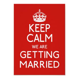 Keep Calm We Are Getting Married - Wedding 11 Cm X 16 Cm Invitation Card