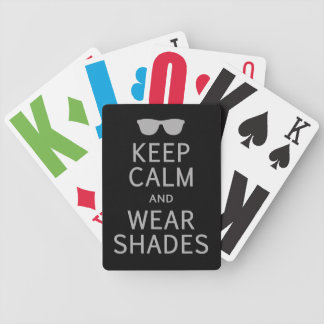 Keep Calm & Wear Shades custom playing cards