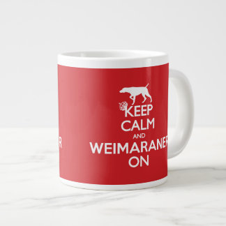 KEEP CALM WEIMARANER LARGE COFFEE MUG