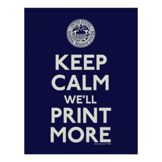 Keep Calm We'll Print More Personalized Flyer