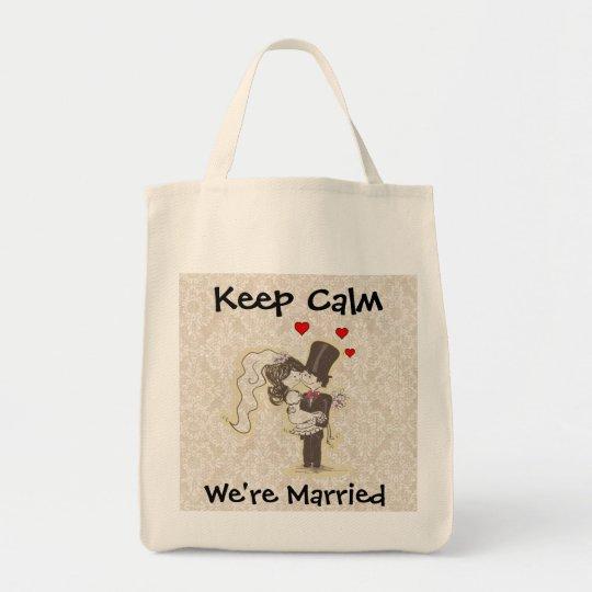 Keep Calm We're Married Wedding Bag